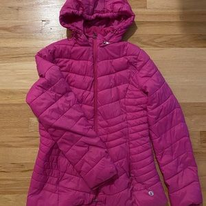 Xersion Puffer Coat Pink Small